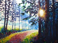 Path Into Hart's Land Painting by Gill Bustamante
