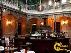 TURISMO EN CHIHUAHUA. En el restaurante LA CASONA, les brindamos a nuestros comensales la mejor atención y calidad de nuestros platillos, mismos que podrá disfrutar acompañados de un muy buen vino de nuestra cava. Nos encontramos ubicados en una casona con una arquitectura de gran belleza donde sus muros guardan parte de la historia de esta ciudad de Chihuahua. Reservaciones al teléfono (614)410 0063 o en http://www.casona.com.mx/  #turismoenchihuahua