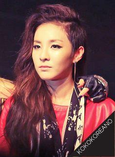 2NE1-Dara: Undercut Hair: Long