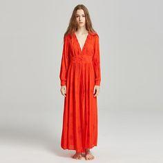 BABAKUD Bohemian Embroidered Long Sleeve Holiday Maxi Dress Bohemia Dress, Holiday Dresses, Silk Dress, Bohemian, Long Sleeve, Pretty, Casual, Skirts, Sleeves
