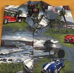 Shelby By David Carey Men's Short Sleeve Shirt Large Carroll Shelby Car Pattern #DavidCarey #ButtonFront