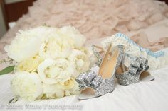 My shoes and Bouquet.