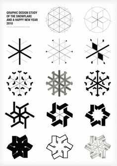 Graphic Design study of the snow flake