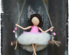 Aiguille de Angel feutrée bébé ange gardien par CloudBerryCrafts