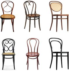 1 - 16 - 15  4 - 18 - 14  corpus of chairs for the Thonet design grammar