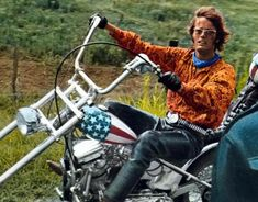 """Easy Rider"" con Peter Fonda e Dennis Hopper"