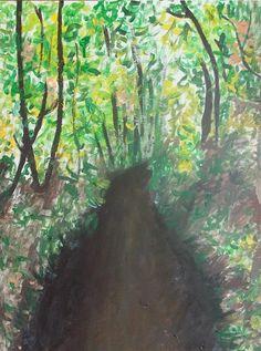 Woods Acrylic Painting