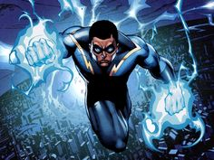 Black Lightning First Look Shows Off The CW's Badass New Superhero Comic Book Characters, Comic Book Heroes, Comic Character, Comic Books Art, Comic Art, Comic Superheroes, Character Reference, Character Design, Black Lightning Static Shock