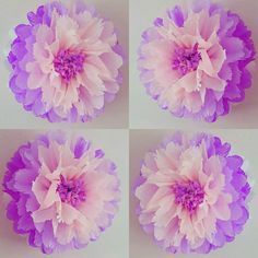 one tissue paper hanging wedding party babyshower bedroom wall flowers party wall flower 1 butterfly girls birthday party by Tissue Paper Decorations, Girls Party Decorations, Tissue Paper Flowers, Giant Paper Flowers, Diy Flowers, Shower Bebe, Baby Shower, Christening Balloons, Baby Girl Room Decor