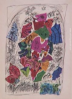 Tree of life (sketch to vitrage in Chapelle des Cordeliers in Sarrebourg), 1974