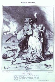 Honore Daumier,Menelas the Victor