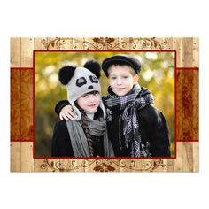 Rustic Country Photo Holiday Flat Card