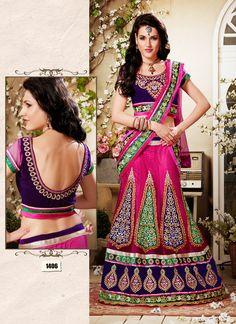 Beautiful Pink Velvet Designer Lehenga Choli