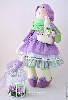 Купить Софи. Сиреневая зайка - зайка, игрушка зайка, игрушка зайчик, зайцы, зайки