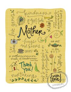 Mother's Day Art Print 8 x 10 by lettergirl on Etsy