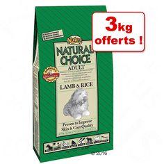 Animalerie  Croquettes Nutro Choice 12 kg  3 kg offerts !  Adult Large breed agneau riz