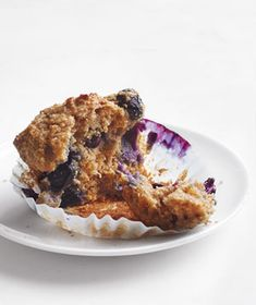 Whole grain blueberry muffins.
