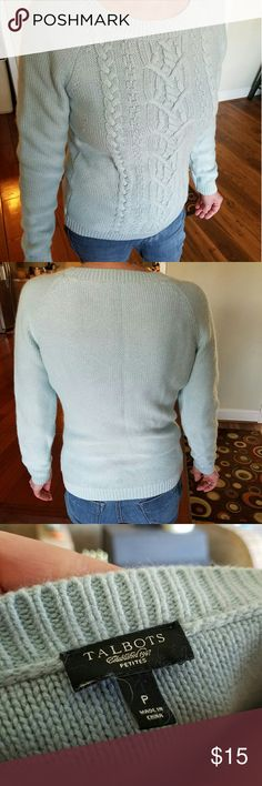 Pale Blue Talbots sweater Beautiful Blue sweater from Talbots. Talbots Sweaters Crew & Scoop Necks