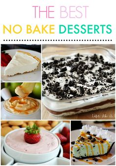 30 No-Bake Dessert Recipes from The Country Cook and Life in the Lofthouse. No oven required! These are the Most-Pinned desserts on Pinterest right now! #summer #nobake