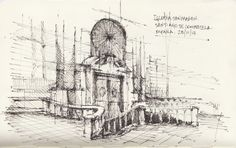 Croquis - Santiago Compostela - por Facundo Alvarez