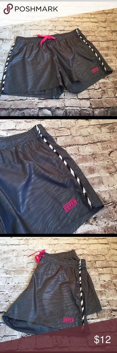 SOFFE - Athletic Shorts SOFFE - Athletic Shorts ... gray, white, black and pink make up the colors! Excellent condition! Size Medium Start your workout TODAY! Soffe Shorts