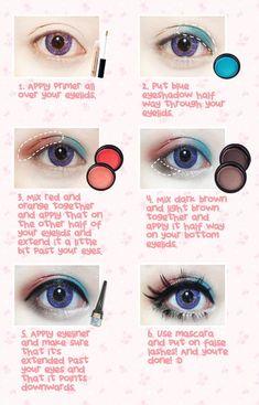 Skin Care Tips For Beautiful Skin Korean Big Eye Circle Lenses: Korean Skin Care & Makeup - Mo Harajuku Makeup, Gyaru Makeup, Ulzzang Makeup, Kawaii Makeup, Mac Makeup, Cute Makeup, Simple Makeup, Makeup Eyeshadow, Big Eye Makeup