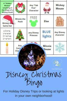 Free Printable Disney Christmas Lights BINGO (For Disney OR your Neighborhood!)