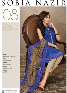 Sobia Nazir Silk Chiffon Eid-UL-Azha Collection 2015