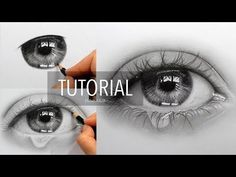 How to draw, shade a realistic eye with teardrop | Step by Step Drawing Tutorial - YouTube
