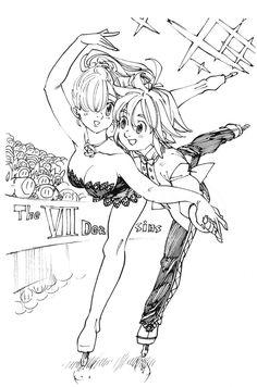 Meliodas and Elizabeth Ship Ice Skating Elizabeth Seven Deadly Sins, Seven Deadly Sins Anime, 7 Deadly Sins, Anime Manga, Anime Art, Sir Meliodas, Meliodas And Elizabeth, 7 Sins, Anime Couples