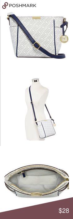 Liz Claiborne Bag New with tags white monogram design Bag. CROSSBODY Liz Claiborne Bags Crossbody Bags
