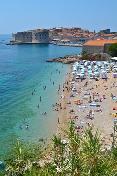 LOVE this beach!  Must visit again.  Banje Beach - Dubrovnik, Croatia