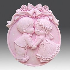Soap Mold,Cake Molds Wedding Day Lovers Kiss Silicone Mold, For Soap, Candy,Cake, Ice,Craft. $9.99, via Etsy.