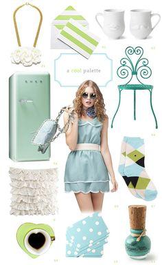 Aqua and green