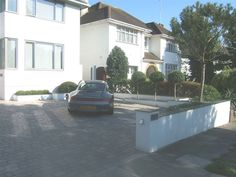white rendered front garden walls - Google Search