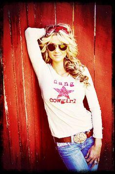 Dang Country long sleeve tee and sweet freakin belt by Dang Chicks