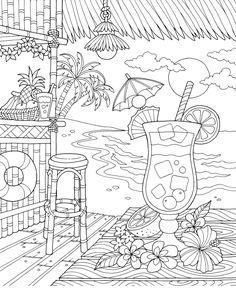 Spring Coloring Pages, Cute Coloring Pages, Mandala Coloring Pages, Coloring Sheets, Coloring Books, Free Adult Coloring, Printable Adult Coloring Pages, Color By Number Printable, Bottle Drawing