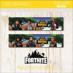 Use these free printable Fortnite water bottle labels to decorate any bottled drinks you want to provide at your Fortnite themed party. Water bottle labels are a great way to add unique touches to our party which will be a pleasant surprise for your guests. The free templates which are inspired by the popular survival …