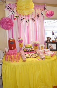 Favor and cake table for baptism.