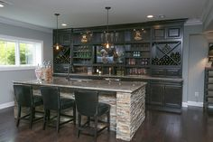 Walkout Basement/Basement Bar - Fox Home Design Decor, Home, Basement Bar, Sweet Home, Bars For Home, House, Finishing Basement, Basement Decor, Home Bar Designs