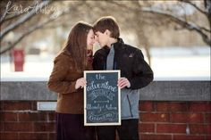 Winter engagement photo sessions give you more opportunities to play around with your wardrobe and props. 5 Tips for Amazing Winter Engagement Photos Pretty Photos, Love Photos, Couple Photos, Winter Engagement Photos, Engagement Session, Winter Sky, Under The Mistletoe, How To Make Snow, Cute Mugs