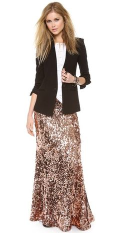 Free People Sequins for Miles Maxi Skirt | SHOPBOP