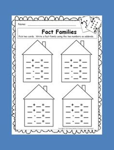 Fact Families - Free and Simple Card Game.