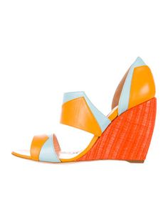 Rupert Sanderson Wedge d'Orsay Sandals w/ Tags