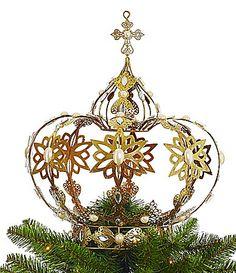 Dillards Trimmings Let It Sneaux Crown Tree Topper #Dillards