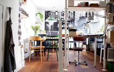 A stylish and functional open-plan kitchen and office | IKEA Home Tour: Marloe's Apartment