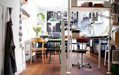 Stilvoll-funktionale, offene Küche und Büro