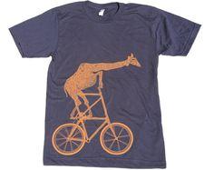 Giraffe on a Bike.