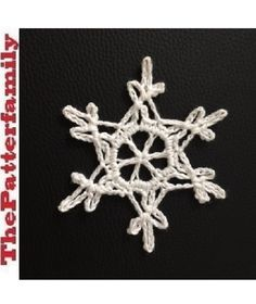 How to Crochet a Snowflake Pattern #12│by ThePatterfamily