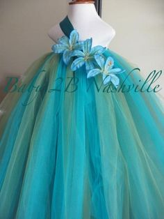 baby and toddler sea nymph turquoise fairy tutu dress